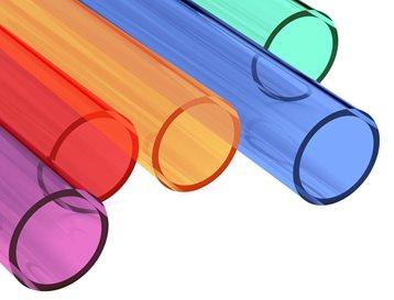 Acrylaat buis kleur
